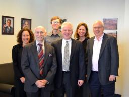 Gail Kursh, Howard Blumenthal, Patrick Kuhlmann, Mark Tobey, Frances Marshall, and Jack Sidorov in the Legal Policy Section.