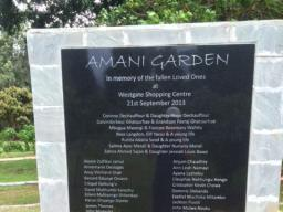 Kenya - Memorial for the victims of the armed attack in Nairobi.