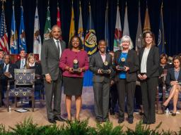 The Attorney General's Award for Distinguished Service is presented to a team from the Civil Rights Division for its groundbreak