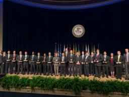 The Attorney General's Award for Distinguished Service is presented to a team for its outstanding work in the investigation and