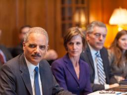 Attorney General Eric Holder and Acting Deputy Attorney General Sally Quillian Yates meet with the Coalition for Public Safety