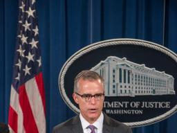 Assistant Director in Charge Andrew G. McCabe of the FBI's Washington Field Office speaks at the press conference on Foreign Exc