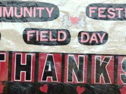 Community Field Day Welcome Sign