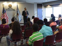 Learning about the U.S. Attorney's Office Public Affairs Unit.