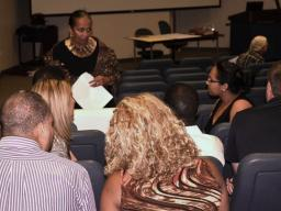 Dr. Elam engages students.