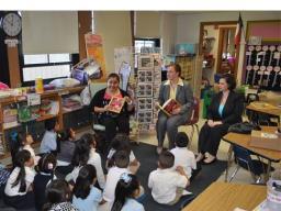 USAO staff read to kindergartners