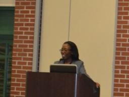 USAO Outreach Specialist Khalilah Daniels thanks the participants.