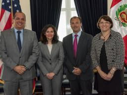 Ambassador Castilla, FTC Chairwoman Ramirez, INDECOPI Chairman Tassano, and Principal Deputy Assistant Attorney General Hesse