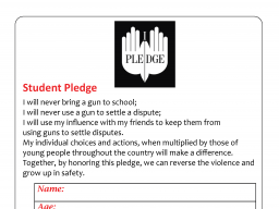 National Student Pledge Against Gun Violence