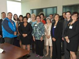 Attorney General Loretta E. Lynch meets with tribal leaders from the Alaska Federation of Natives