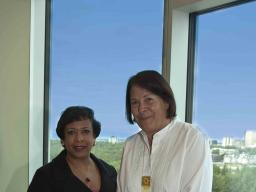 Attorney General Loretta E. Lynch with Alaska Federation of Natives (AFN) President Julie Kitka