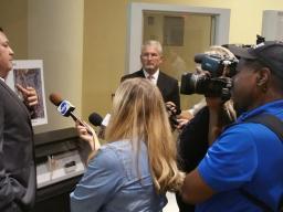 Media Q& A with prosecutors.