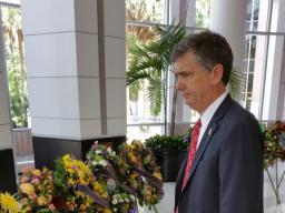 USA Bentley at memorial at City Hall in Orlando