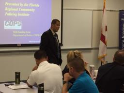 Capt. Steffens engages the class.