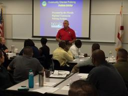 HCC Public Safety Training Director John Meeks welcomes students.