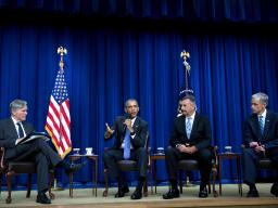 U.S. Attorney John Walsh participates in panel discussion with President Barack Obama and Los Angeles Police Chief Charlie Beck