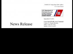 USCG Press Release