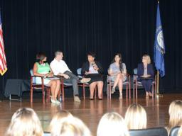 Attorney General Loretta E. Lynch holds a town hall on opioid awareness with students at Madison Central High School