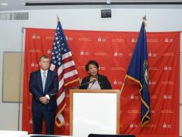 Attorney General Loretta E. Lynch and U.S. Attorney Kerry B. Harvey