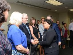 Attorney General Loretta E. Lynch met with parents who have lost their children due to overdoses and now work with the Heroin Ed