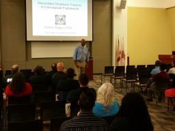 Presenter Patrick Diggs discusses secondary trauma victims