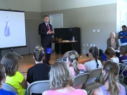 U.S. Attorney Kerry Harvey talks with Richmond Campers