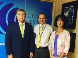 U.S. Attorney Kerry Harvey, Kyle Edelen, PIO and Jennifer Powell