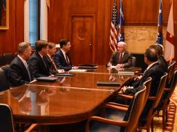 Attorney General Sessions meets with heads of Justice Department law enforcement components.