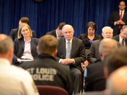 Attorney General Sessions visited St. Louis, talking with law enforcement, prosecutors and the community about efforts to combat