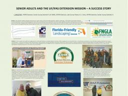 University of Florida's Horticultural Program