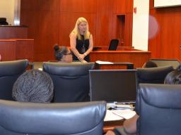 Judge Sansone speaks to the girls