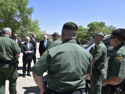 Attorney General Sessions and Secretary Kelly meet with Departments of Justice and Homeland Security personnel.