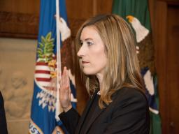 Rachel L. Brand takes the oath of office to be the Associate Attorney General of the United States.