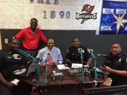 Outreach team at WRXB's  Police and Community Radio