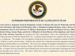 WellCare Award for Superior Litigative Team
