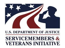 DOJ Servicemembers and Veterans Initiative Logo