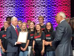 DARE recognizes Attorney General Session for his support of the nation's law enforcement community and students they serve through the DARE program