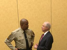 Attorney General Sessions with DARE Officer of the Year Corporal Kofee Anderson of the Montgomery County, Alabama Sheriff's Office