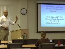 Mr. Patrick Diggs discusses Secondary Trauma Victims