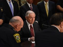 Attorney General Sessions held a meeting with law enforcement officials to discuss the Department of Justice's new policy on civil asset
