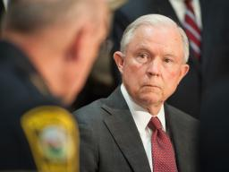 Attorney General Sessions held a meeting with law enforcement officials to discuss the Department of Justice's new policy on civil asset forfeiture.