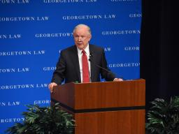 Attorney General Sessions speaks on the importance of free speech on college campuses.