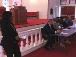 Outreach Specialist Khalilah Daniels moderates the panel.