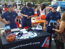 USCG at Tampa Night Out