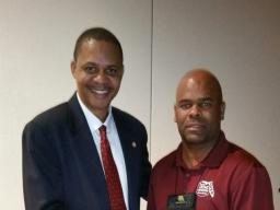 William Daniels poses with FCPA Board Member Shawn Strickland