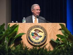 AG Sessions welcomes attendees