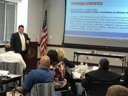 Assistant Statewide Prosecutor Joseph Spataro goes over Florida's statutes.