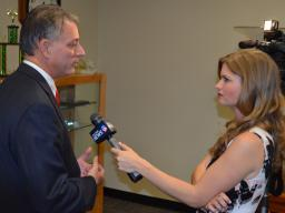 Bay News 9 talks to Acting USA Muldrow after the press conference.