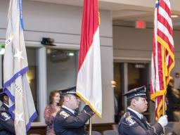 CMPD Color Guard enters with Colors