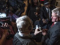 U.S. Attorney Murray addresses the media